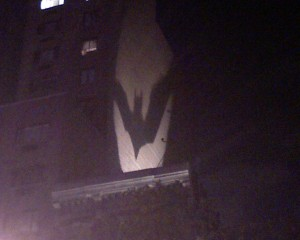 Batman Guerrilla marketing in Gotham